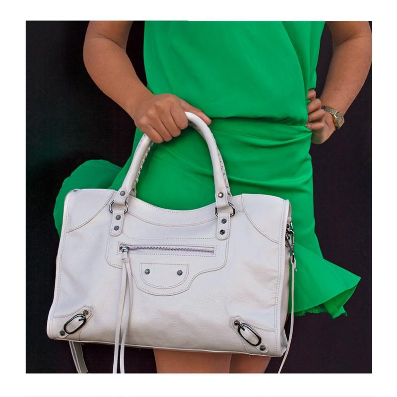 Bolsa Babi Couro Off White Balenciaga inspired 2728