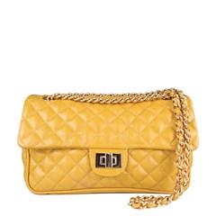 Bolsa em Couro Amarelo Matelassê 2469