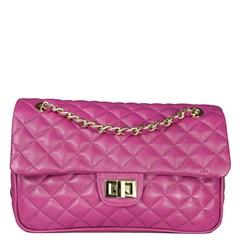 Bolsa em Couro Pink Matelassê 2469
