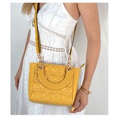 Bolsa Lady em Couro Amarelo 2600