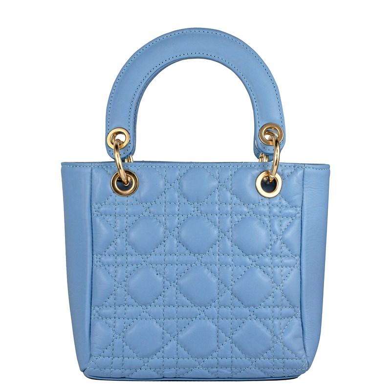 Bolsa Lady em Couro Azul 2600