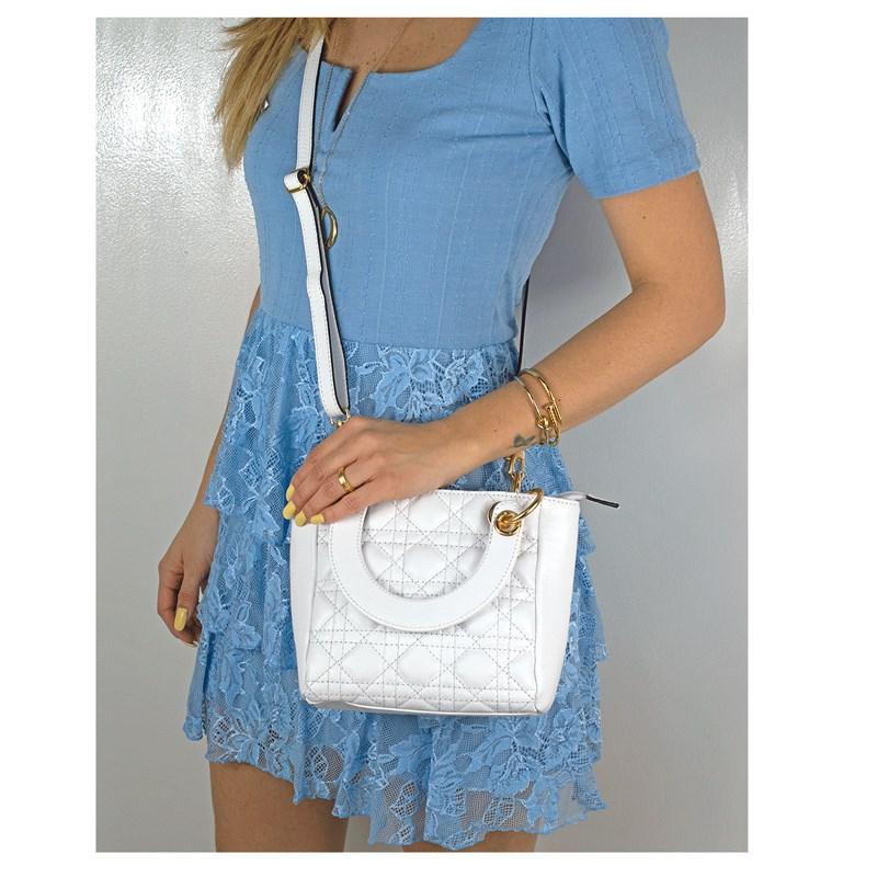 Bolsa Lady em Couro Branco 2600