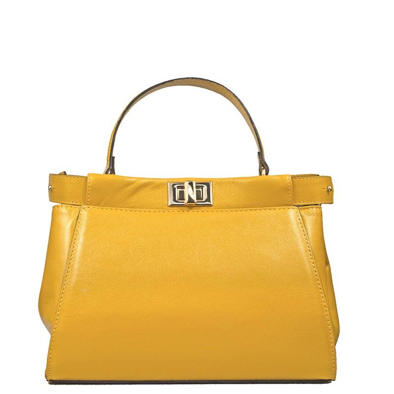 Bolsa Lais em Couro Amarelo 2675