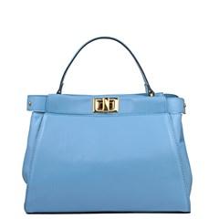 Bolsa Lais em Couro Azul 2675
