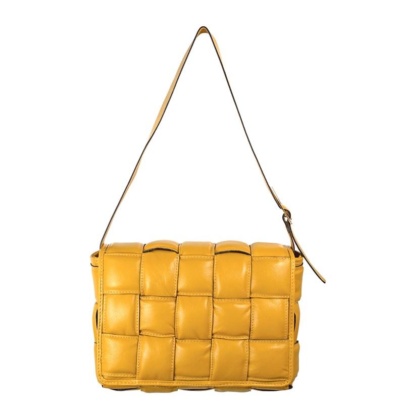 Bolsa Lindy em Couro Amarelo 2479