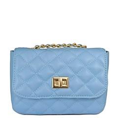 Bolsa Pequena em Couro Azul Matelassê 2595