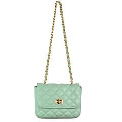 Bolsa Pequena em Couro Menta Matelassê 2595