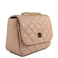 Bolsa Pequena em Couro Nude Matelassê 2595