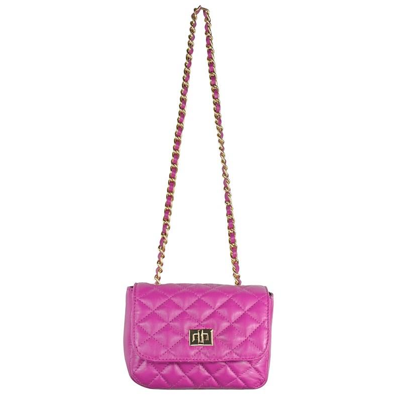 Bolsa Pequena em Couro Pink Matelassê 2595