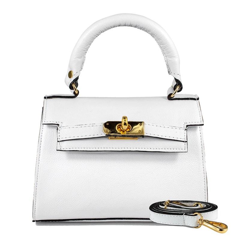 Bolsa Stella em Couro Branco 2658