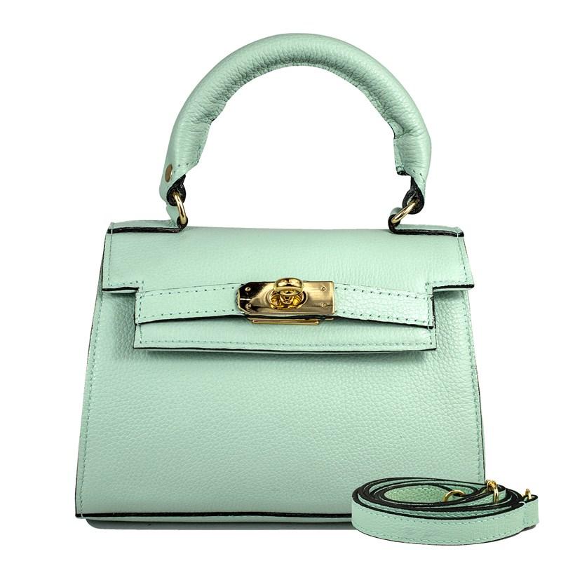 Bolsa Stella em Couro Verde Menta 2658