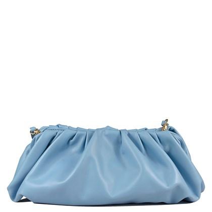 Bolsa The Pouch Azul Couro 2638