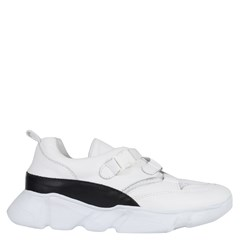 Chunky Sneakers Basic em Couro Branco 5000