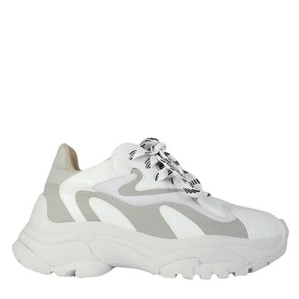 Chunky Sneakers em Calf Branco e Gelo 5725