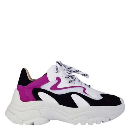 Chunky Sneakers em Calf Branco e Pink 5725