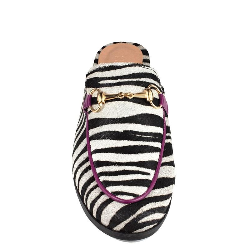 Mule Gucci Inspired Animal Print Zebra 531