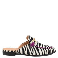 Mule Gucci Inspired Animal Print Zebra 531