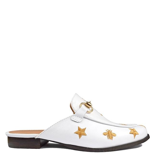 Mule Gucci Inspired com Abelhas em Couro Algodão 586 - Recomendamos a compra de um número acima do normalmente usado