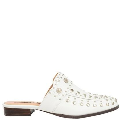 Mule Gucci Inspired em Couro Branco com Tachas 600 - Recomendamos a compra de um número acima do normalmente usado