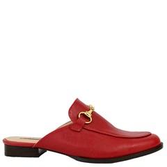 Mule Gucci Inspired em Couro Framboesa 531  - Recomendamos a compra de um número acima do normalmente usado