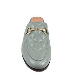 Mule Gucci Inspired em Couro Matelasse Azul Denim 651 - Recomendamos a compra de um número acima do normalmente usado