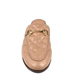 Mule Gucci Inspired em Couro Matelasse Nude 651 - Recomendamos a compra de um número acima do normalmente usado