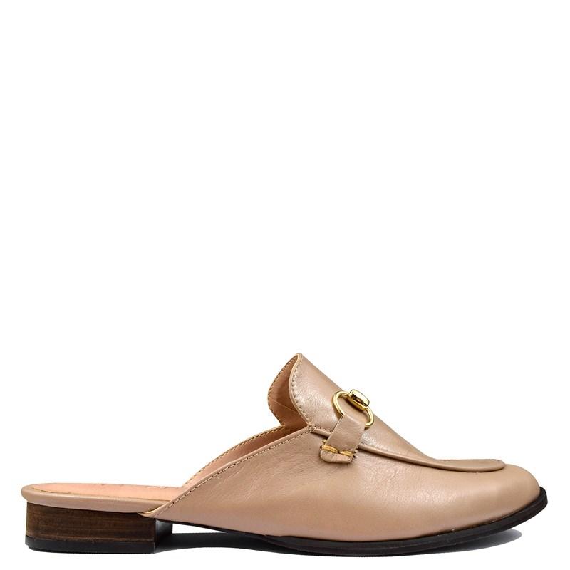 Mule Gucci Inspired em Couro Nude 531 - Recomendamos a compra de um número acima do normalmente usado