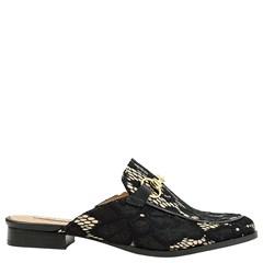 Mule Gucci Inspired em Renda Preta 531 - Recomendamos a compra de um número acima do normalmente usado