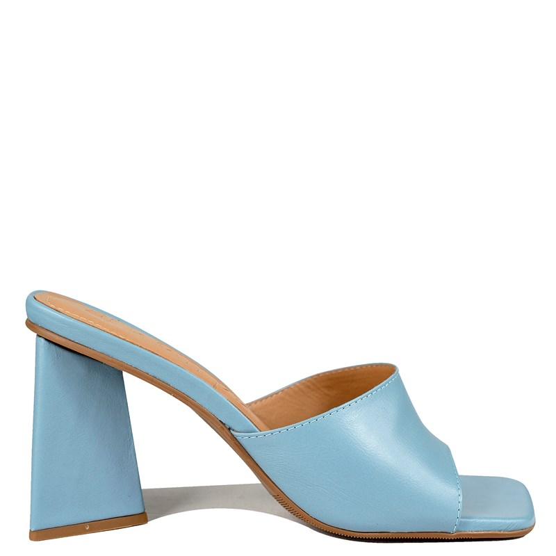 Mule Kendall Inspired The Attico Azul Couro 0-203