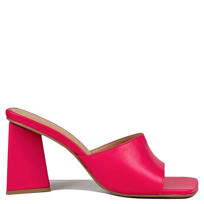 Mule Kendall Inspired The Attico Rosa Couro 0-203