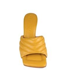 Mule Sasha Salto Taça Amarelo Couro 5-109