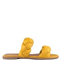 Rasteira Anamar Couro Amarelo 0-120