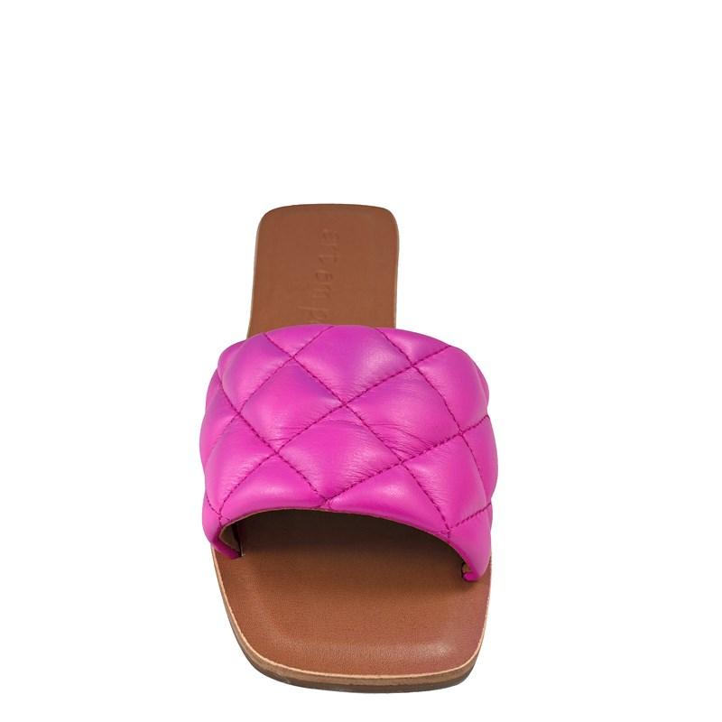 Rasteira Sol Inspirado Bottega Veneta Couro Pink  001