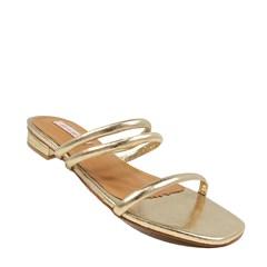Sandália Cristal Ouro Couro 0100