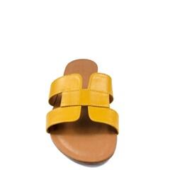 Sandália Hermes Inspired Couro Amarelo 114