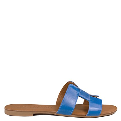 Sandália Hermes Inspired em Couro Azul Capri 114