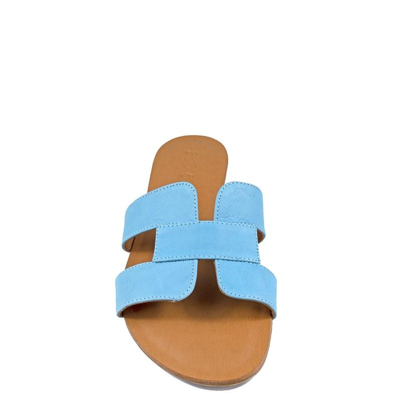 Sandália Hermes Inspired em Couro Azul Sky 114