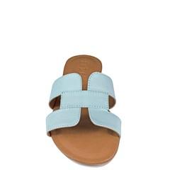 Sandália Hermes Inspired em Couro Baby Blue 114