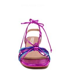 Sandália Queen Pink Couro Metalizado 5100
