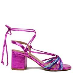Sandália Queen Pink Couro Metalizado 5100 [PRÉ-VENDA]