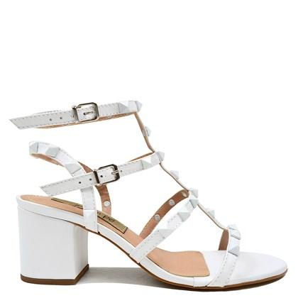 Sandália Queopes Branco Couro 0163