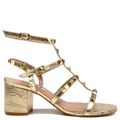 Sandália Queopes Ouro Couro 0163
