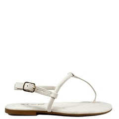 Sandália Rasteira Christy Off White 9162