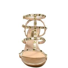 Sandália Valência Couro Metalizado Ouro 0120