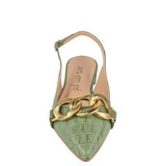 Sapatilha Chanel Aberta Verde Caqui 119