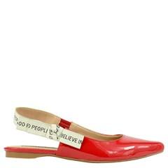Sapatilha Chanel Inspired em Verniz Vermelho 117