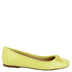 Sapatilha Matelassê em Verniz Amarelo 058