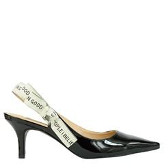 Scarpin Chanel Inspired em Verniz Preto 5094