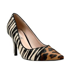 Scarpin Leonor Animal Print Color 7500