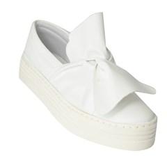 Slip On Laço Branco 4532